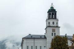 SALZBURG/AUSTRIA - 19 SEPTEMBER: Mening van de Toren van Salzb royalty-vrije stock foto's