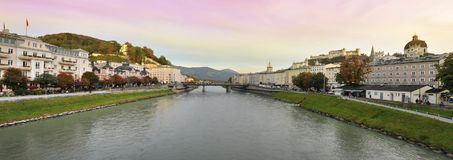 Panorama of Salzburg, Austria Stock Photos