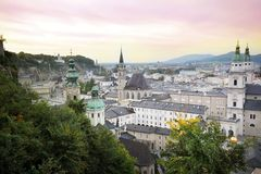 Panorama of Salzburg, Austria Stock Photo