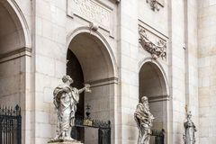 SALZBURG/AUSTRIA - SEPTEMBER 19 : Statues at the Entrance to  Sa