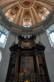 SALZBURG/AUSTRIA - SEPTEMBER 19 : View of an Altar in Salzburg C. Athedral in Austria on September 19, 2017 royalty free stock image