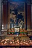 SALZBURG/AUSTRIA - SEPTEMBER 19 : View of an Altar in Salzburg C. Athedral in Austria on September 19, 2017 stock photos