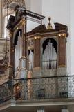 SALZBURG/AUSTRIA - SEPTEMBER 19 : View of an Organ in Salzburg C. Athedral in Austria on September 19, 2017 stock photo