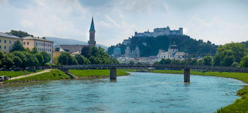Salzburg Austria. Summer in salzburg cultural capital of  austria Royalty Free Stock Image