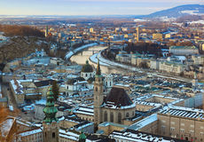 Salzburg Austria at sunset Royalty Free Stock Photography