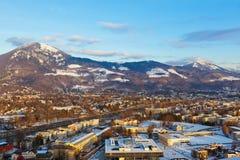 Salzburg Austria at sunset Royalty Free Stock Photo