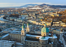 Salzburg Austria at sunset Royalty Free Stock Photo