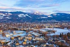 Salzburg Austria at sunset Royalty Free Stock Image