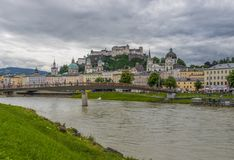 The bridges of Salzburg. Austria royalty free stock photography