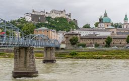 The bridges of Salzburg. Austria stock image