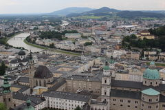 Salzburg, Austria. View on the city of Salzburg from Hohensalzburg fortress stock photos