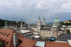 Salzburg, Austria. View on the city of Salzburg from Hohensalzburg fortress royalty free stock photography