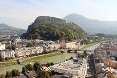 Salzburg, Austria. View in direction Kapuzinerberg, Salzburg in Austria Stock Photography