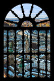 Salzburg Austria in window Stock Images