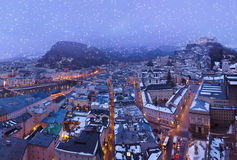 Salzburg Austria at winter Royalty Free Stock Images