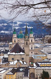 Salzburg Austria at winter Stock Photography