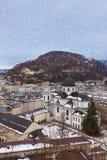 Salzburg Austria at winter Stock Image