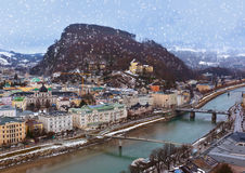 Salzburg Austria at winter Stock Images