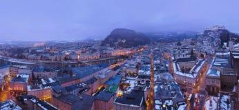 Salzburg Austria at winter Royalty Free Stock Photos