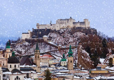 Salzburg Austria at winter Royalty Free Stock Photo