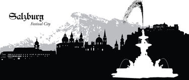 Salzburg austrii Royalty Ilustracja