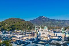 Salzburg bytak på kullebakgrund Royaltyfria Foton