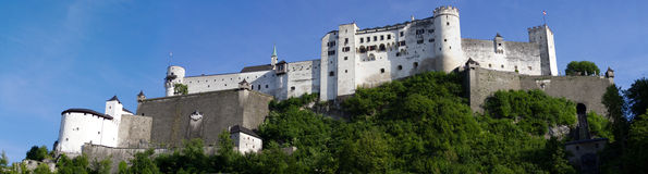 Salzburg Castle. Above the medieval city of Salzburg stock photo