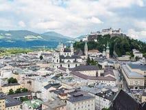 Salzburg castle Festung Hohensalzburg, Austria. Stock Image