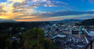 Salzburg castle in panorama Stock Photos