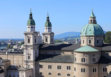 Salzburg Cathedral in baroque style in Austria Europe Royalty Free Stock Photos