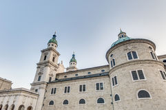 The Salzburg Cathedral (Dom) at Salzburg, Austria Stock Photography