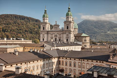 Salzburg cathedral, Salzburger Dom, at Domplatz, Salzburg Land, Austria royalty free stock photo