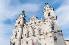 The Salzburg Cathedral (Salzburger Dom) at Salzburg, Austria Stock Photo