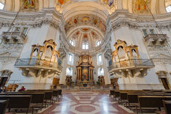 The Salzburg Cathedral (Salzburger Dom) in Salzburg, Austria Royalty Free Stock Photo