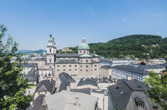 The Salzburg Cathedral (Salzburger Dom) at Salzburg, Austria Royalty Free Stock Photography