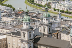The Salzburg Cathedral (Salzburger Dom) at Salzburg, Austria Stock Photography