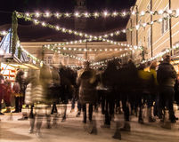 Salzburg Christmas Market at Night Royalty Free Stock Photography