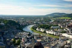 Salzburg City. Panoramic view of Salzburg City in Austria Stock Image