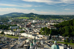 Salzburg City. Panoramic view of Salzburg City in Austria Royalty Free Stock Image