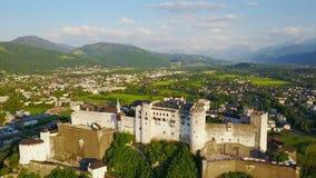 Salzburg city aerial view stock video