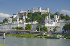 Salzburg City Historic Center With Cathedral Royalty Free Stock Image