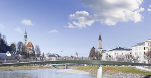 Salzburg City Panorama, Austria Royalty Free Stock Photography