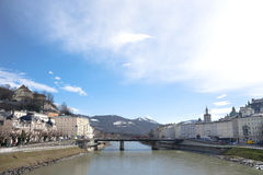 Salzburg City Panorama, Austria Stock Images