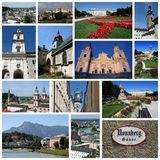 Salzburg-Collage Stockfotos