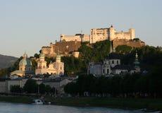 Salzburg com fortaleza Fotografia de Stock