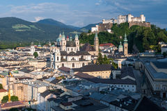 Salzburg, construções, castelo Fotografia de Stock Royalty Free
