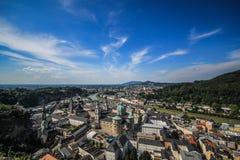Salzburg da vista superior Imagens de Stock