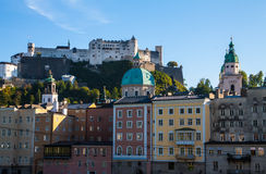 Salzburg dachy Zdjęcia Stock