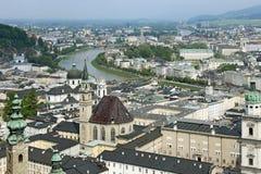 Salzburg de la fortaleza de Hohensalzburg Foto de archivo libre de regalías