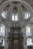 Salzburg Dom cathedral altar, Austria. Stock Photography